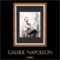 Karikatuur - Parijs aan de 19e eeuw - Collectie Paul Gavarni 5/38
