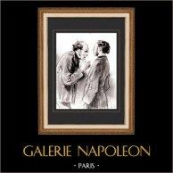 Karikatuur - Parijs aan de 19e eeuw - Collectie Paul Gavarni 6/38