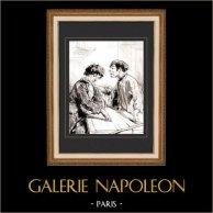 Karikatuur - Parijs aan de 19e eeuw - Collectie Paul Gavarni 7/38