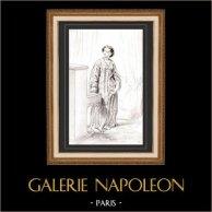 Karikatuur - Parijs aan de 19e eeuw - Collectie Paul Gavarni 8/38