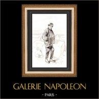 Karikatuur - Parijs aan de 19e eeuw - Collectie Paul Gavarni 9/38