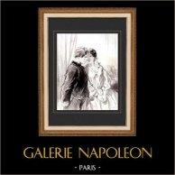 Karikatuur - Parijs aan de 19e eeuw - Collectie Paul Gavarni 10/38
