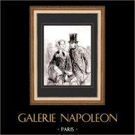 Karikatuur - Parijs aan de 19e eeuw - Collectie Paul Gavarni 11/38