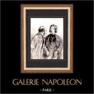 Karikatuur - Parijs aan de 19e eeuw - Collectie Paul Gavarni 14/38
