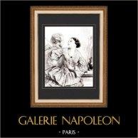 Karikatuur - Parijs aan de 19e eeuw - Collectie Paul Gavarni 18/38
