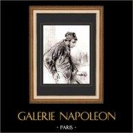 Karikatuur - Parijs aan de 19e eeuw - Collectie Paul Gavarni 20/38