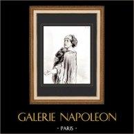 Karikatuur - Parijs aan de 19e eeuw - Collectie Paul Gavarni 23/38