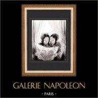 Karikatuur - Parijs aan de 19e eeuw - Collectie Paul Gavarni 24/38