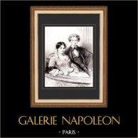 Karikatuur - Parijs aan de 19e eeuw - Collectie Paul Gavarni 27/38