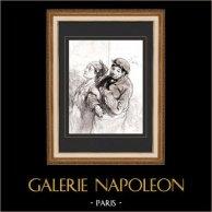 Karikatuur - Parijs aan de 19e eeuw - Collectie Paul Gavarni 29/38
