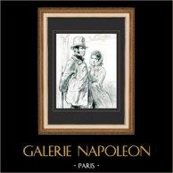 Karikatuur - Parijs aan de 19e eeuw - Collectie Paul Gavarni 30/38