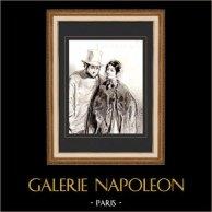 Karikatuur - Parijs aan de 19e eeuw - Collectie Paul Gavarni 31/38