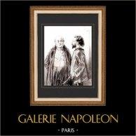Karikatuur - Parijs aan de 19e eeuw - Collectie Paul Gavarni 32/38