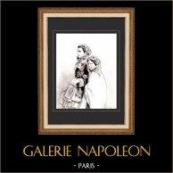 Karikatuur - Parijs aan de 19e eeuw - Collectie Paul Gavarni 33/38