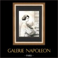 Karikatuur - Parijs aan de 19e eeuw - Collectie Paul Gavarni 34/38