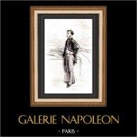 Karikatuur - Parijs aan de 19e eeuw - Collectie Paul Gavarni 35/38