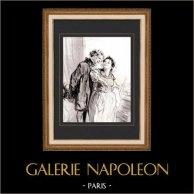 Karikatuur - Parijs aan de 19e eeuw - Collectie Paul Gavarni 37/38