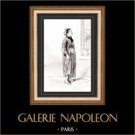 Karikatuur - Parijs aan de 19e eeuw - Collectie Paul Gavarni 38/38
