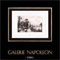 Vue de près de Dieppe - Seine-Maritime - Haute-Normandie (France) | Lithographie originale lithographiée par Menut Alophe. 1830