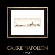 Guerres napoléoniennes - Campagne d'Égypte - Empire Ottoman - Port de Boulaq - Le Caire (Egypte)