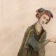 DETTAGLI 01 | Ritratto di Ottone IV di Brandeburgo che Gioca Scacchi con una Donna - Codex Manesse