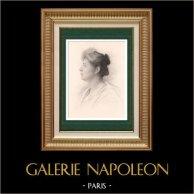 Portrait de Mademoiselle Delma - Actrice - Opéra Comique