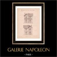 Drawing of Architect - Paris - House - Avenue de Choisy (Mr Gallet - N. Gateuil & Daviet)