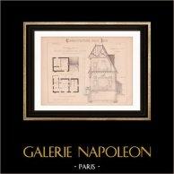 Dessin d'Architecte - Maison de Maître avec Ecurie (Mr Andreson) | Dessin d'architecte imprimé en 1890