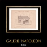 Drawing of Architect - Petite Maison Ouvrière (Mr J. Cacheux)