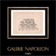 Drawing of Architect - Normandy - Beuzeval - Calvados - House (Mr Héret, architecte)