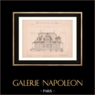 Drawing of Architect - Normandy - Beuzeval - Calvados - House (Mr Héret - Gateuil & Daviet)