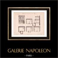 Drawing of Architect - Paris - House (Mr Jules Cacheux - N. Gateuil & Daviet)