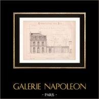 Architektenzeichnung - Luzon - Luçon - Vendée - Haus (Mr Ballereau, père - Gateuil & Daviet) | Architektenzeichnung gedruckte im 1890
