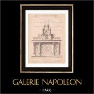 Dessin d'Architecte - Sérignan - Vaucluse - Autel pour Chapelle Privée (Mr Marcelet - Gateuil & Daviet) | Dessin d'architecte imprimé en 1890