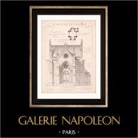 Architektenzeichnung - Grosbreuil - Vendée - Schloss - Château de la Bénatonnière - Kapelle (Mr Guillerot - Gateuil & Daviet)