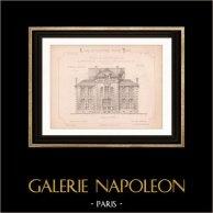 Drawing of Architect - Pougues-les-Eaux - Nièvre - House - Maison de Mr Frébault de Montlouis (Mr Menuel - Gateuil & Daviet)