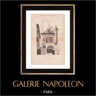 Drawing of Architect - Renaissance House - World Fair - Universal Exposition 1889 (Ch. Garnier)