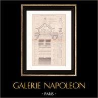 Dessin d'Architecte - Semblancay - Indre-et-Loire - Ecole de Filles (Mr Paul Raffet) | Dessin d'architecte imprimé en 1890