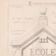 DETAILS 01   Drawing of Architect - Semblancay - Indre-et-Loire - School (Mr Paul Raffet)