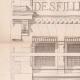 DETAILS 02   Drawing of Architect - Semblancay - Indre-et-Loire - School (Mr Paul Raffet)