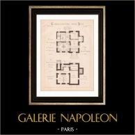 Dessin d'Architecte - Vésinet - Maison de Campagne de Mr Marcel (Mr Paisant Duclos Architecte) | Dessin d'architecte de Paisant Duclos imprimé en 1891