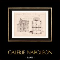 Drawing of Architect - Vésinet - House - Maison de Campagne de Mr Marcel (Mr Paisant Duclos Architecte)