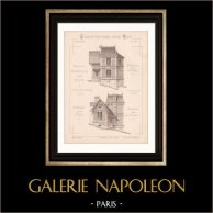 Drawing of Architect - Aulnay-les-Bondy - Aulnay-sous-Bois - House - Maison d'Habitation (Mr E. Rahir Architecte)