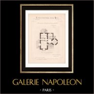 Drawing of Architect - Enghien - House - Maison d'Habitation (Mr Joanny Bernard Architecte)