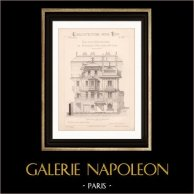 Drawing of Architect - Nice - Maison Normande de Mr Masselin (Mr Joliet Architecte)