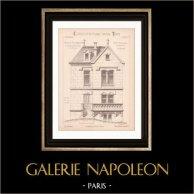 Drawing of Architect - Aulnay-sous-Bois - House - Maison Bourgeoise (Mr E. Talpone Architecte)