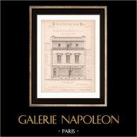 Drawing of Architect - House - Coffeehouse - Petite Maison d'Habitation avec Salle pour Café (Mr Clair Architecte)