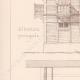 DÉTAILS 02   Dessin d'Architecte - Auteuil - Plan d'élévation - Ecurie et Logement (MM. Vaaser et Bougleux Architectes)