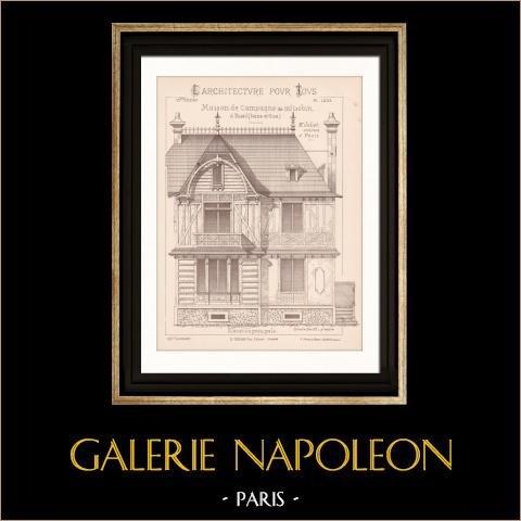 Gravures anciennes gravures de la malmaison - Architecte rueil malmaison ...