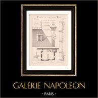 Dessin d'Architecte - Rueil Malmaison - Maison de Campagne de Mr Gobin (Mr Joliet Architecte) | Dessin d'architecte de Joliet imprimé en 1891